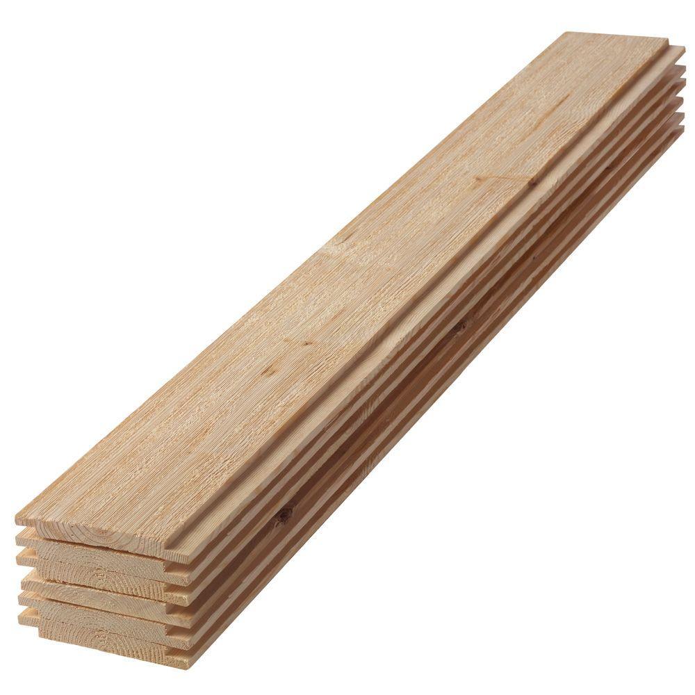 1 in. x 6 in. x 3 ft. Barn Wood Shiplap Pine Board (6-Pack)