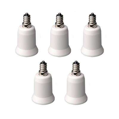 Candelabra to Standard Bulb Adapter (5-Pack)