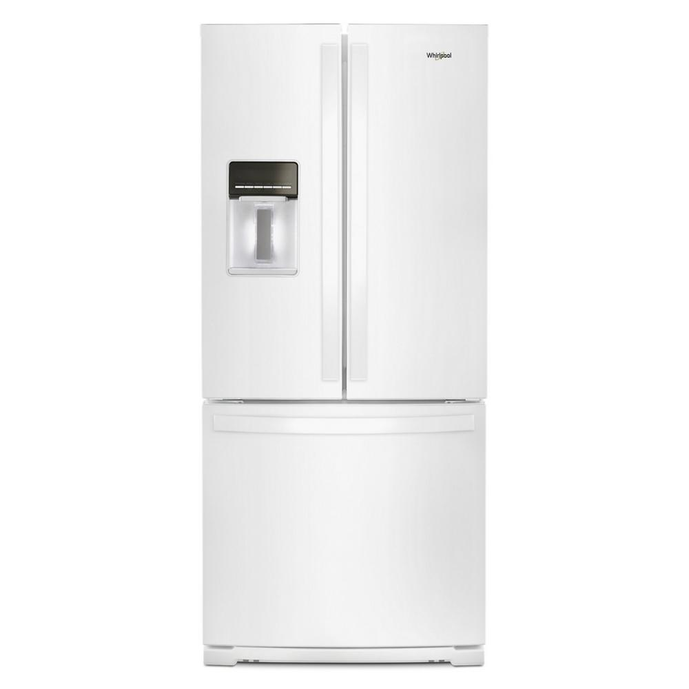 Whirlpool 20 Cu Ft Built In French Door Refrigerator In White