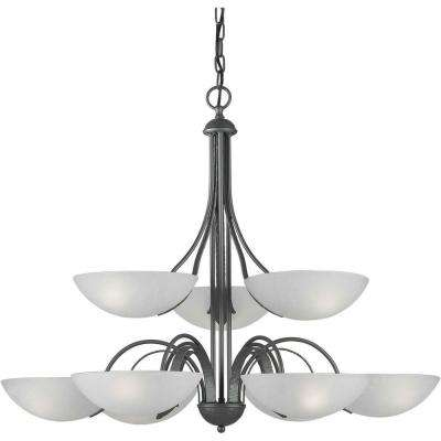Amelia 9-Light Pewter Iron Chandelier