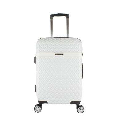 Yasmine 22 in. Pearl White Hardside Spinner Luggage