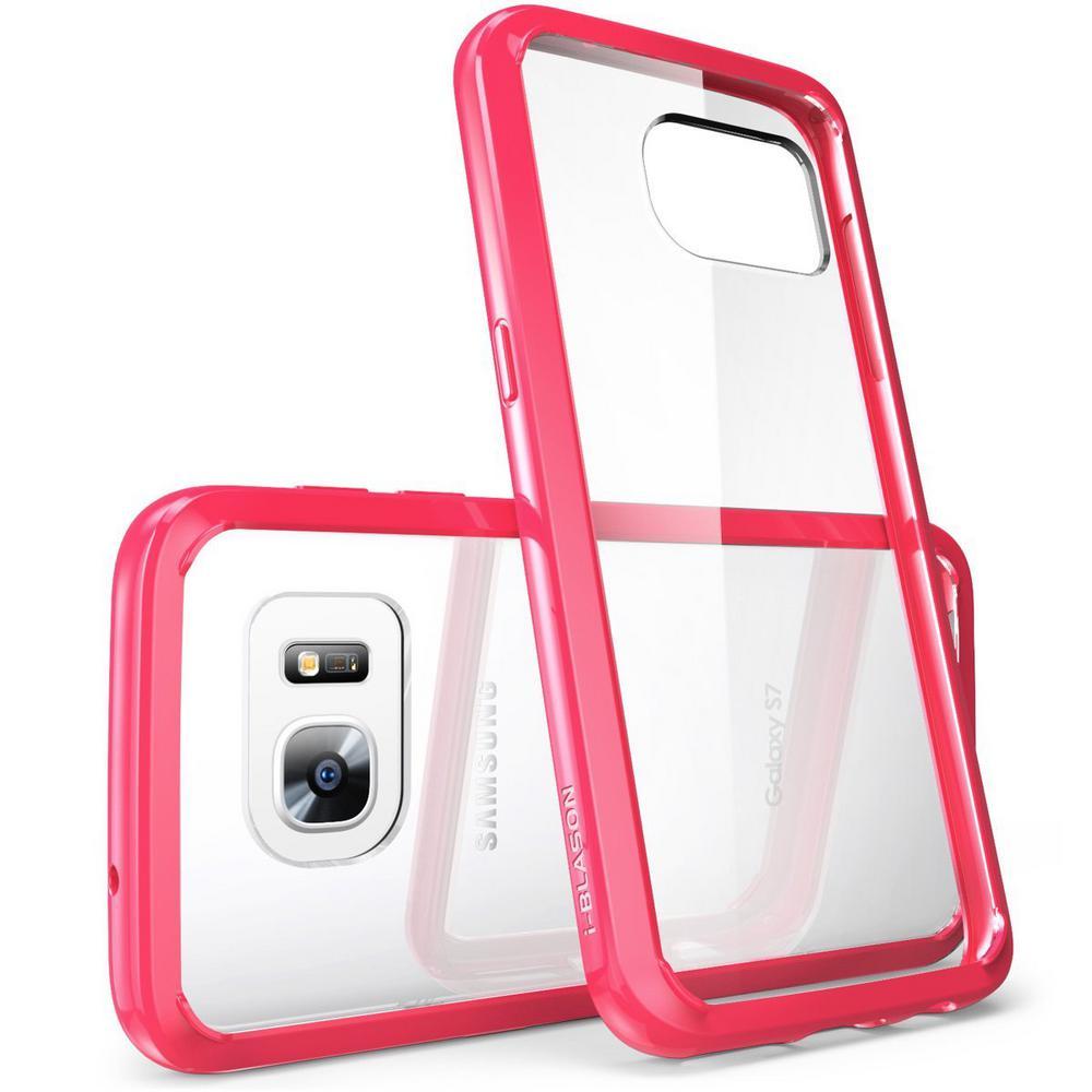 i-Blason-Galaxy S7-Halo Series Transparent Case-Pink