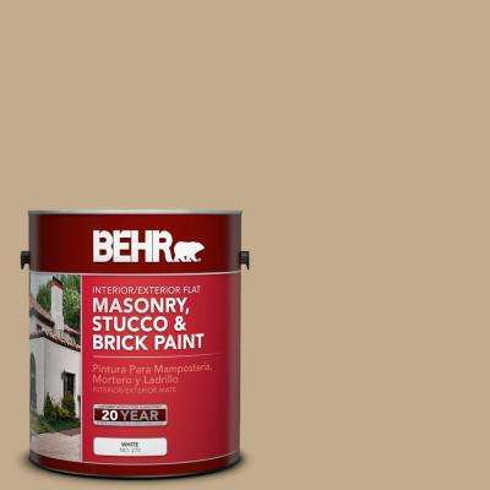 1 gal. #BXC-07 Palomino Tan Flat Interior/Exterior Masonry, Stucco and Brick Paint