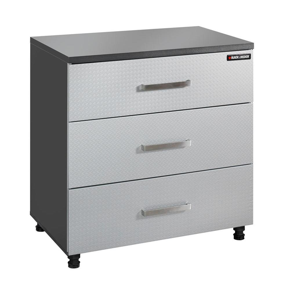 black+decker 3-drawer laminate base cabinet with thick work