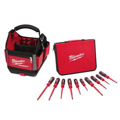10-Piece 1000-Volt Insulated Screwdriver Set W/ 10 in. PACKOUT Tote