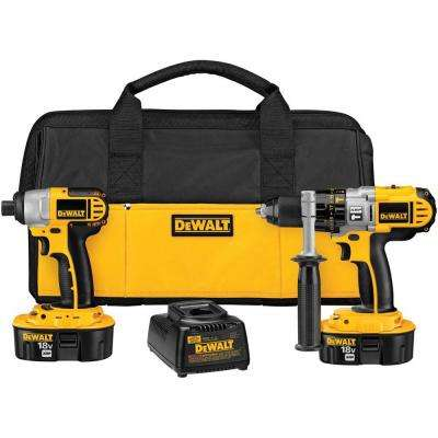 18-Volt XRP NiCd Cordless Hammer Drill and Impact Driver Combo Kit (2-Tool) with (2) Batteries 2.4Ah, Charger and Bag