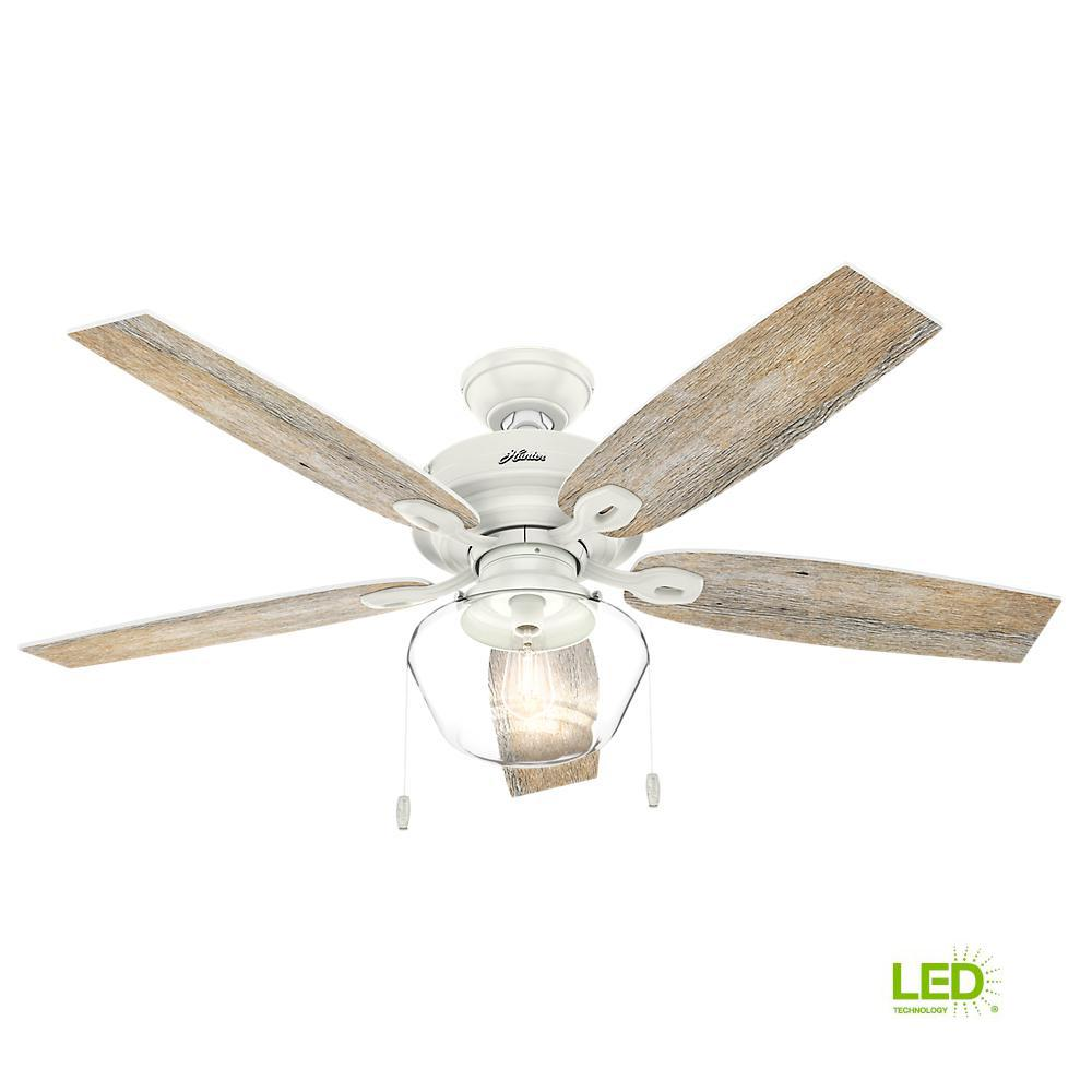 white outdoor ceiling fan with light flush mount home depot led indooroutdoor fresh white ceiling fan hunter crown canyon 52 in