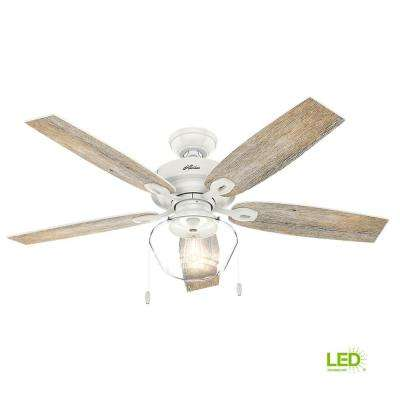 Crown Canyon 52 in. LED Indoor/Outdoor Fresh White Ceiling Fan