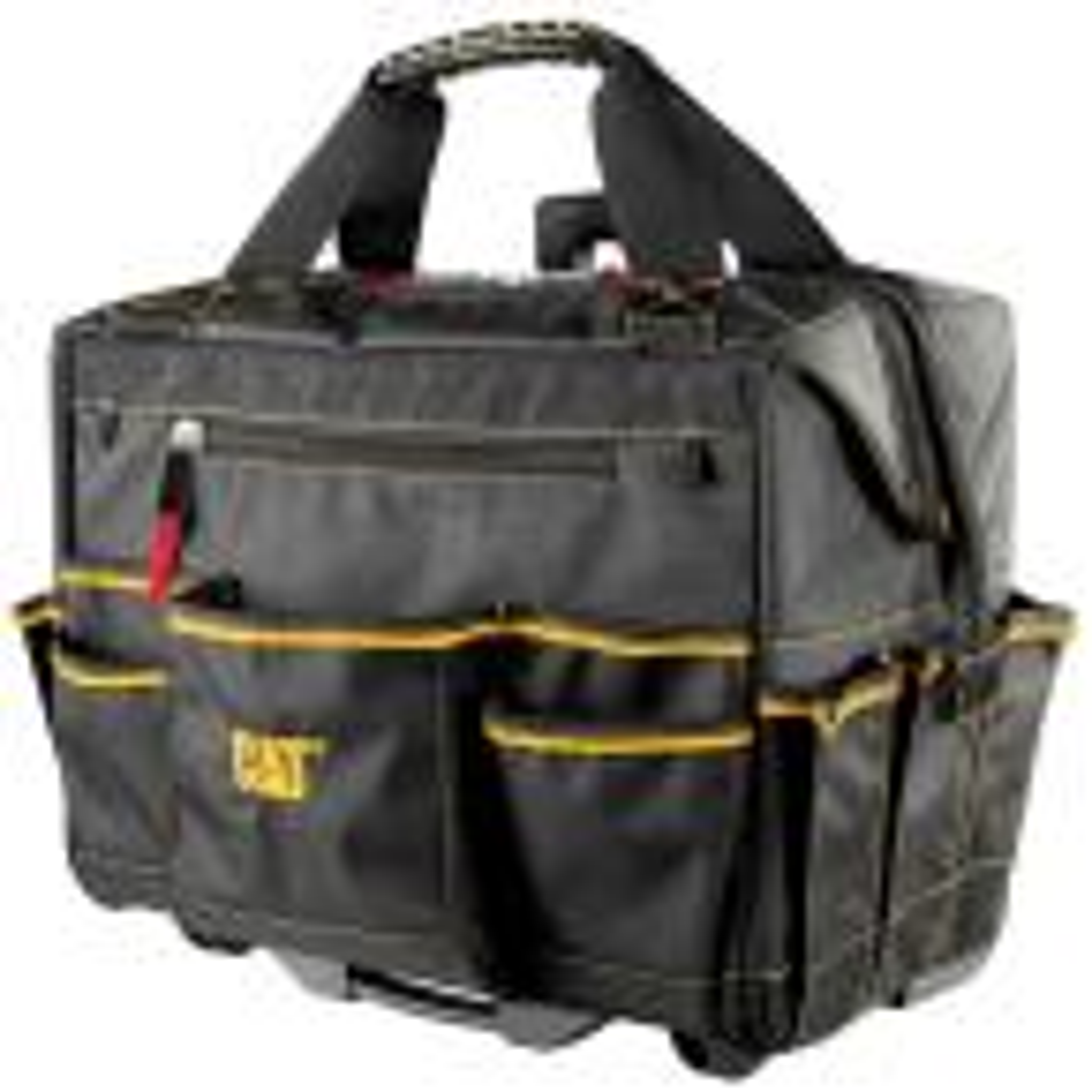 18 in. 18-Pocket Pro Rolling Tool Bag in Black