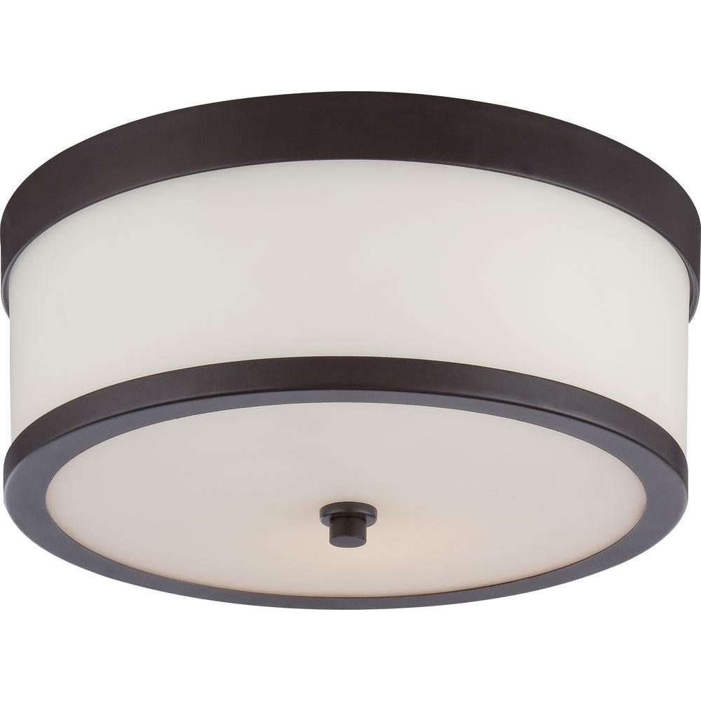 amax lighting 2625. Glomar Sienna 2-Light Venetian Bronze Flush Mount Amax Lighting 2625