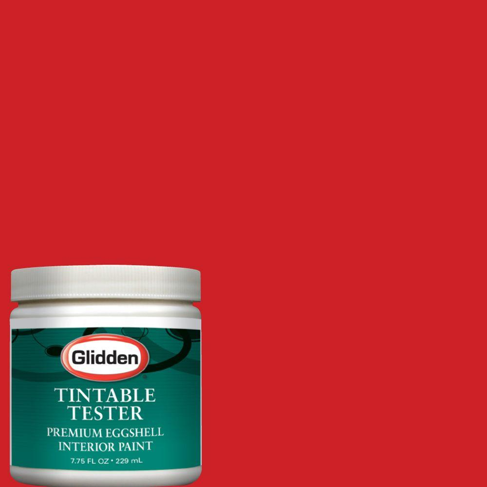 Glidden Premium 8 Oz. #GLR06 Red Geranium Interior Paint Sample GLR06 D8    The Home Depot