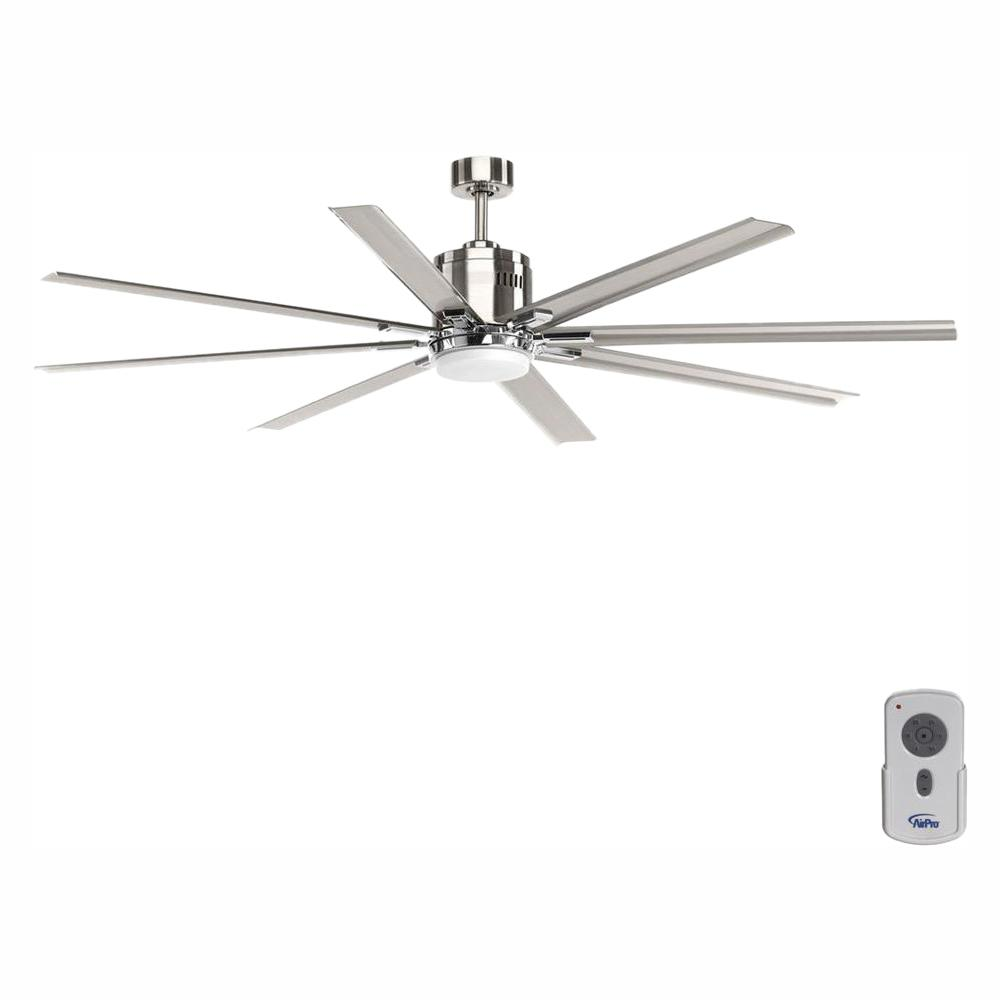 Progress Lighting Vast Collection 72 in. LED Indoor Brushed Nickel Industrial Ceiling Fan with Light Kit and Remote