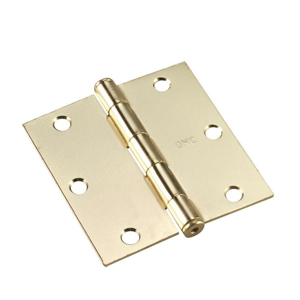 Richelieu Hardware 3-1/2 in. x 3-1/2 in. Brass Full Mortise Butt Hinge