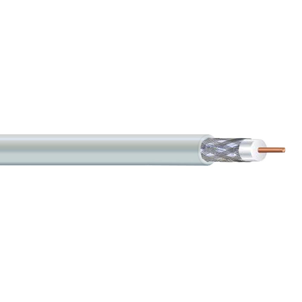 1000 ft. White RG6U Dual Shield CM Coaxial Cable