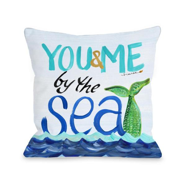 By the Sea 16 in. x 16 in. Decorative Pillow 73695PL16