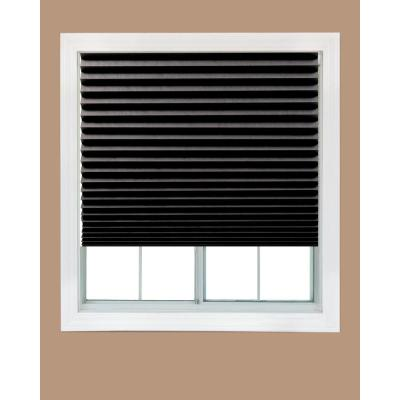 Cut-to-Size Black Cordless Blackout Privacy Temporary Shades 48 in. W x 72
