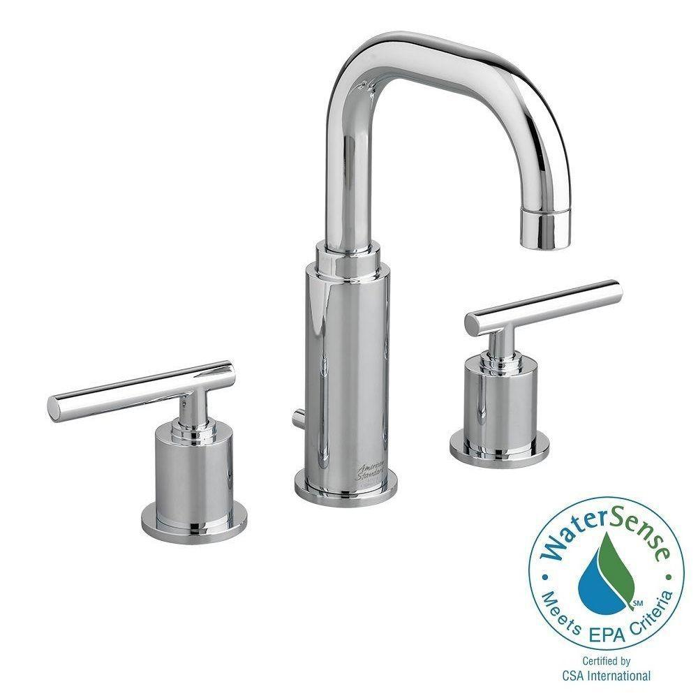 American Standard Serin 8 In Widespread 2 Handle Bathroom Faucet In Polished Chrome