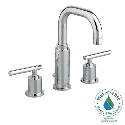 Serin 8 in. Widespread 2-Handle Bathroom Faucet in Polished Chrome