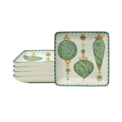 Constantina Turquoise Appetizer Plates (Set of 4)
