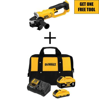 20-Volt MAX XR Starter Kit (1) 6.0Ah Battery & (1) 4.0Ah Battery with FREE 20-Volt Cordless 4-1/2 to 5 in. Grinder