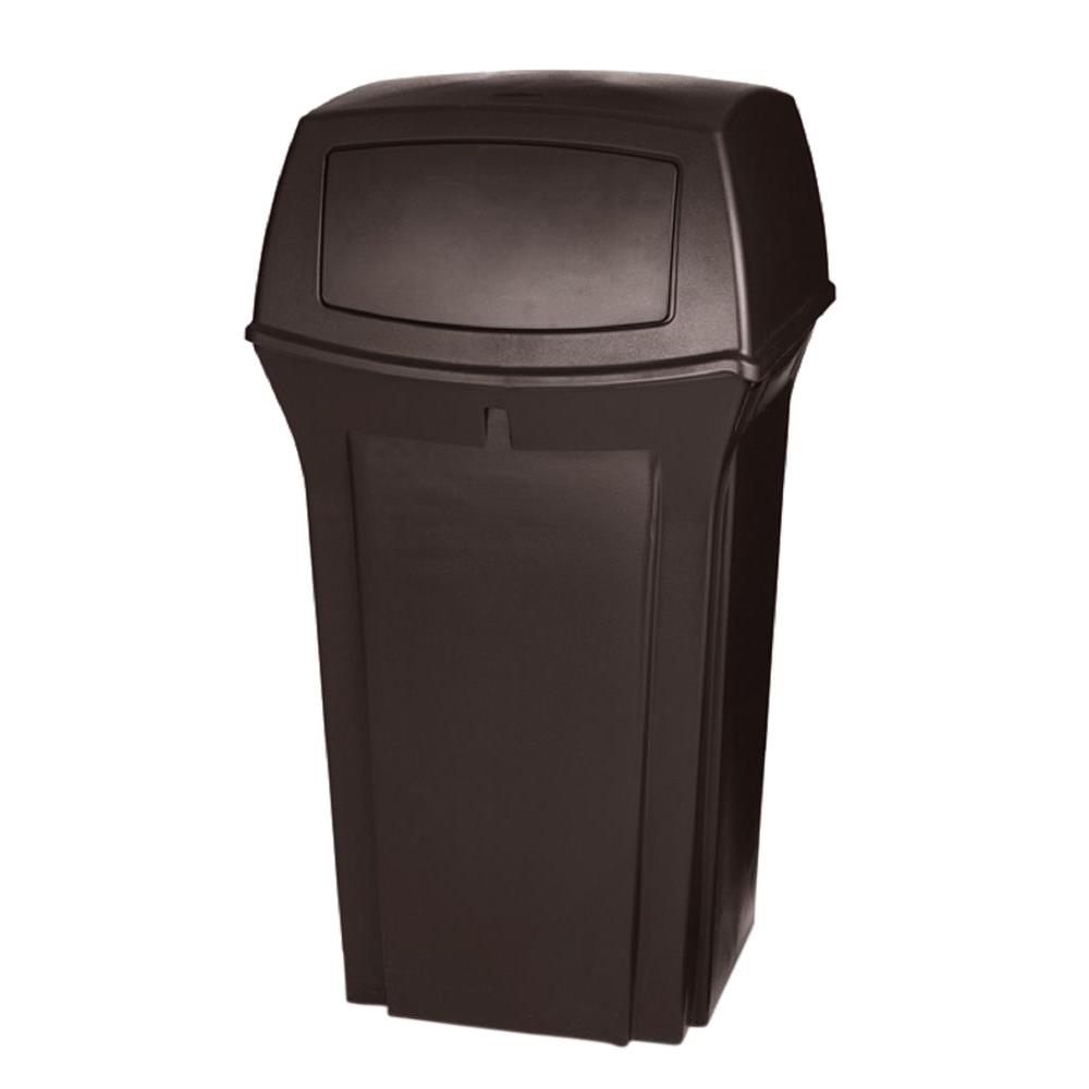 Rubbermaid Commercial Products Ranger 35 Gal. Brown 2-Door Trash Can  sc 1 st  The Home Depot & Rubbermaid Commercial Products Ranger 35 Gal. Brown 2-Door Trash Can ...