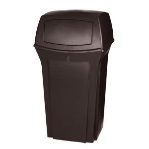 Rubbermaid Commercial Products Ranger 35 Gal. Brown 2-Door Trash Can by Rubbermaid Commercial Products