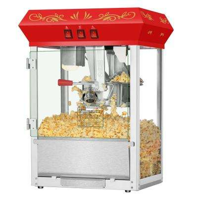 8 oz. Movie Night Red Countertop Style Popcorn Popper