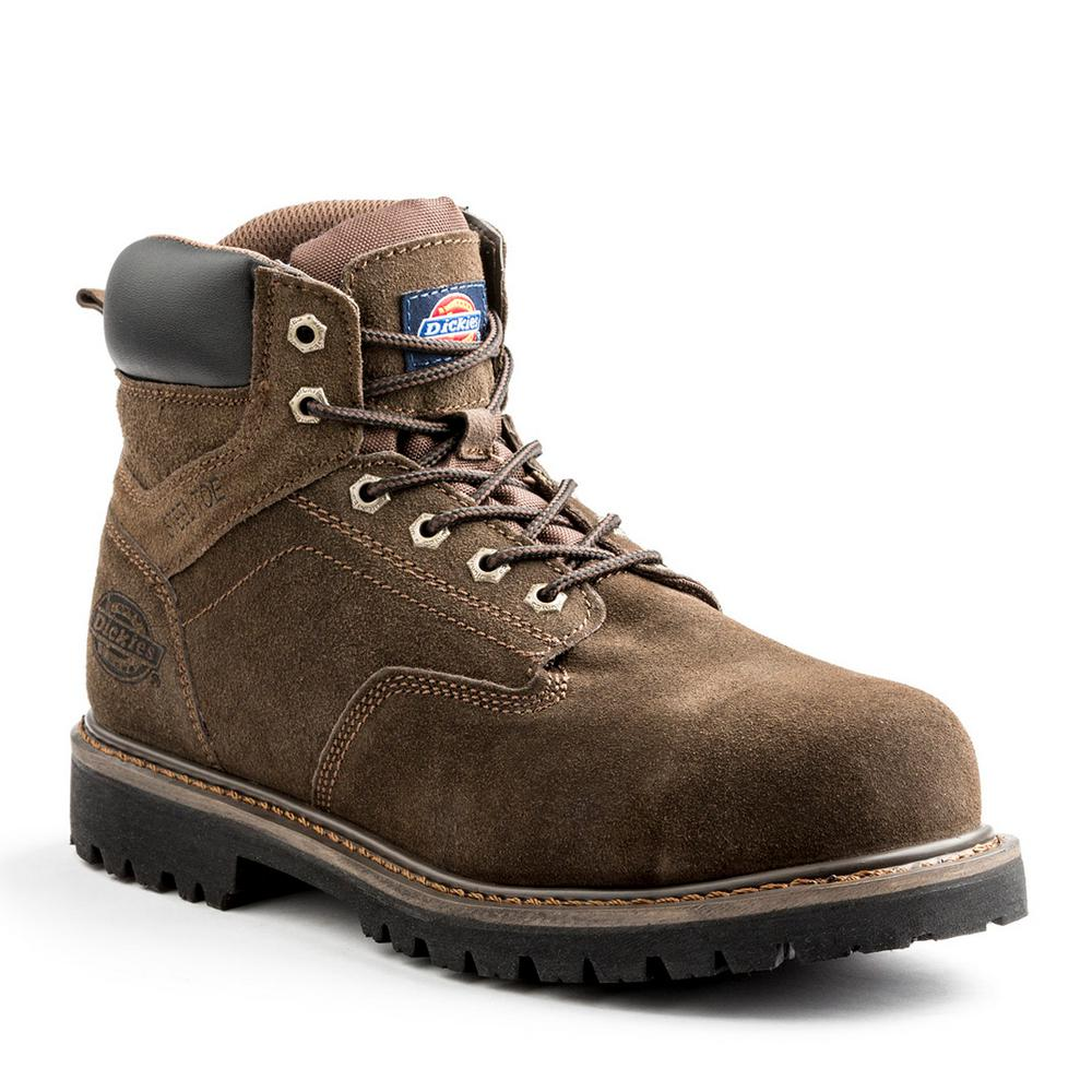 3a572db08d4 Dickies Stryker Men Size 8.5 Brown Leather Steel Toe Work Boot