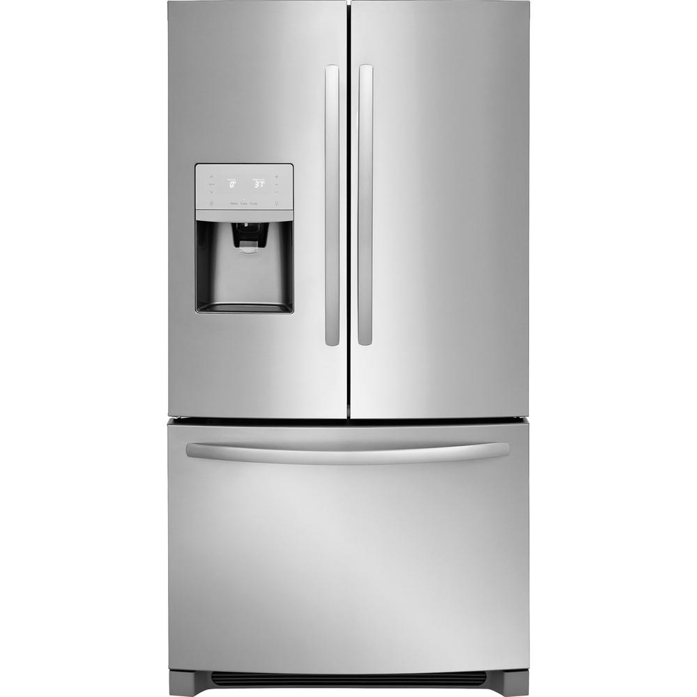 gallery problems ice refrigerator maker product french refrigerators stainless doors frigidaire steel door big