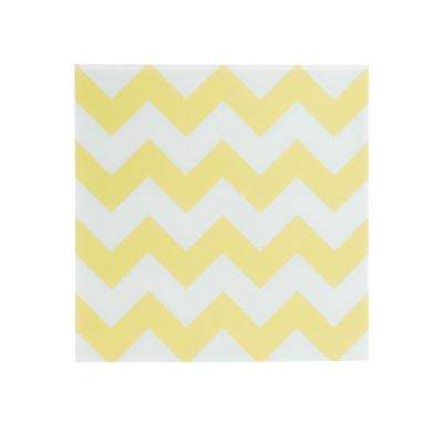 Yellow Chevron Magnetic Memo Board