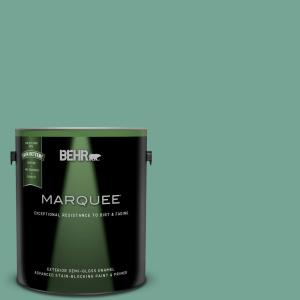 1 gal. #MQ6-38 Patina Semi-Gloss Enamel Exterior Paint and Primer in One