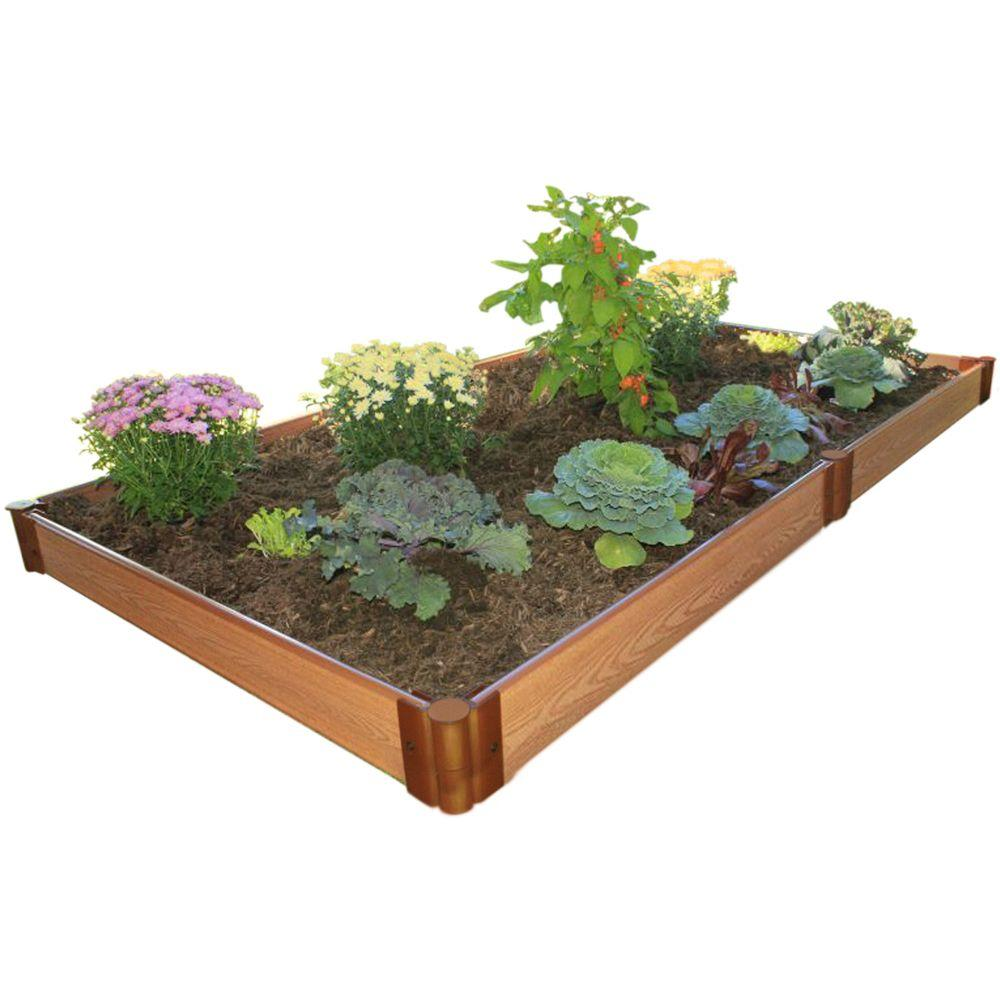 Frame It All One Inch Series 4 ft. x 8 ft. x 5.5 in. Composite Raised Garden Bed Kit