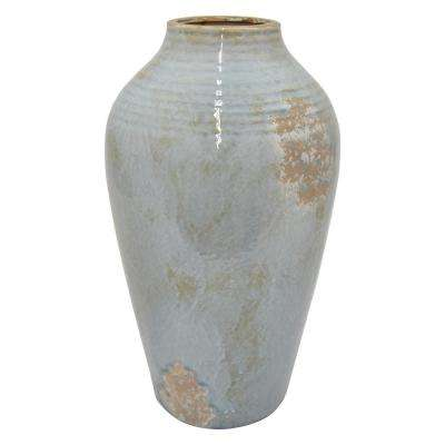 18 in. Blue Ceramic Vase