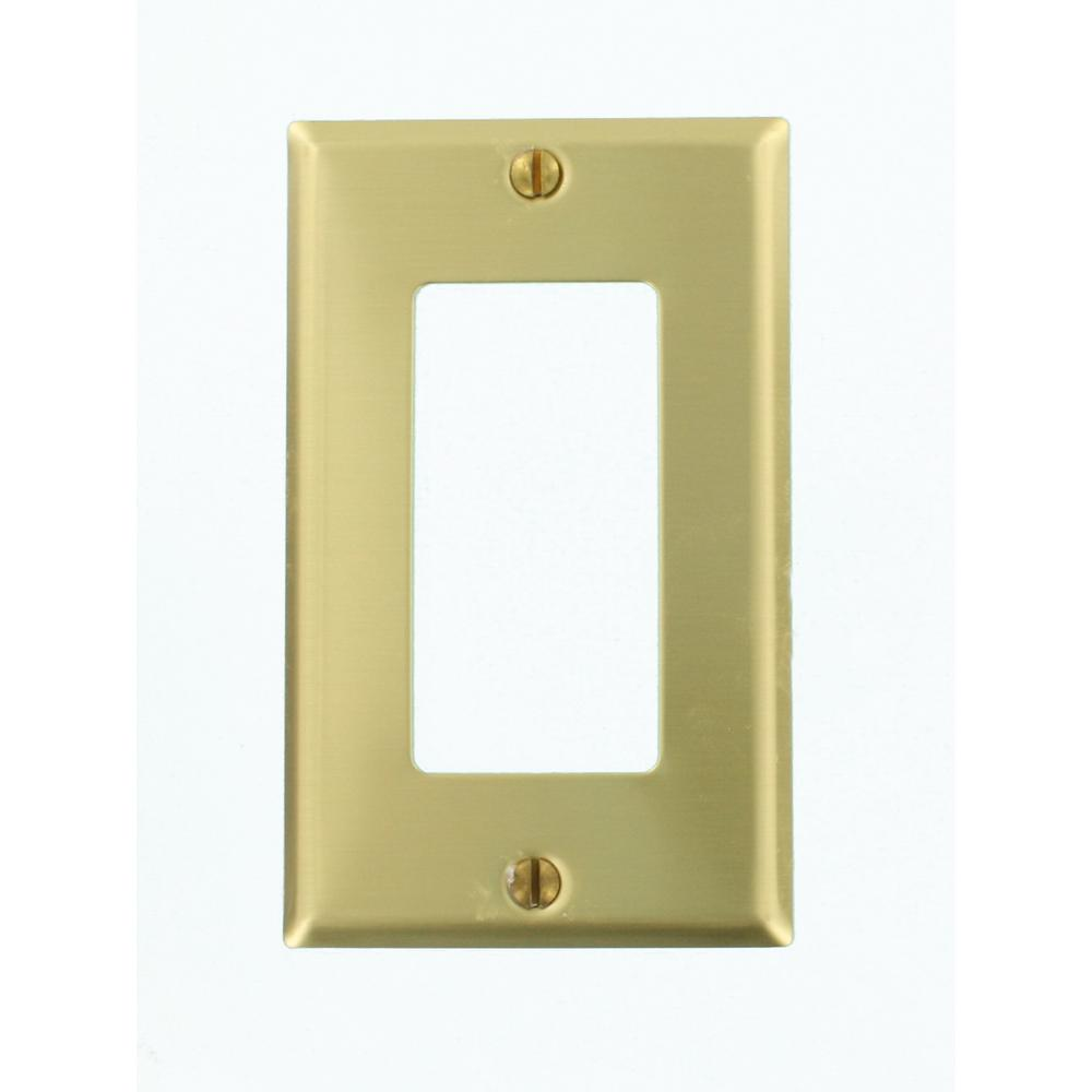 1-Gang Decora Wall Plate, Brass