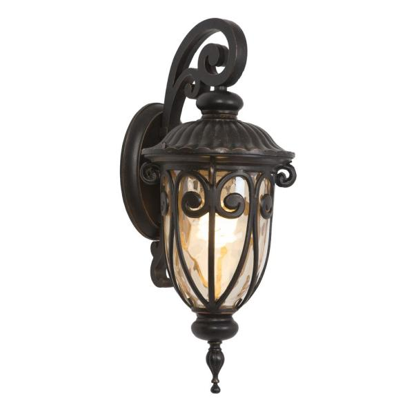 Viviana Collection 1-Light Oil Rubbed Bronze Outdoor Wall Lantern Sconce