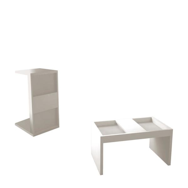 Mainstay Coffee Table.Paterson White Modern Accent End And Coffee Table With Magazine Shelf Set Of 2
