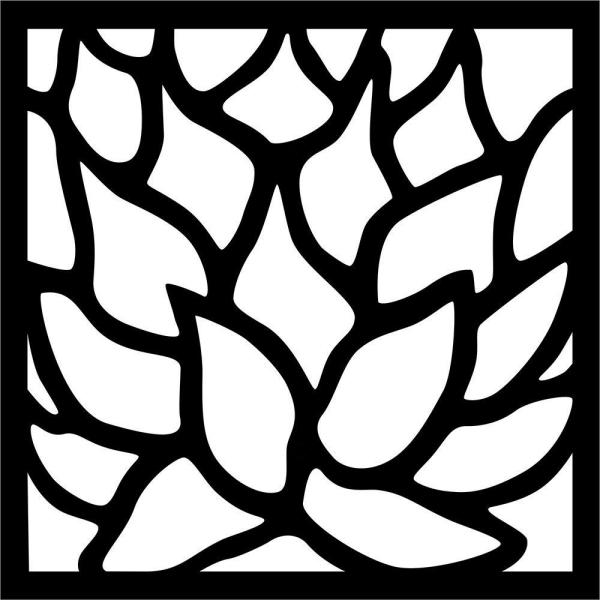 0.3 in. x 22.8 in. x 1.9 ft. Matrix Lotus Wall Art & Fence Panel
