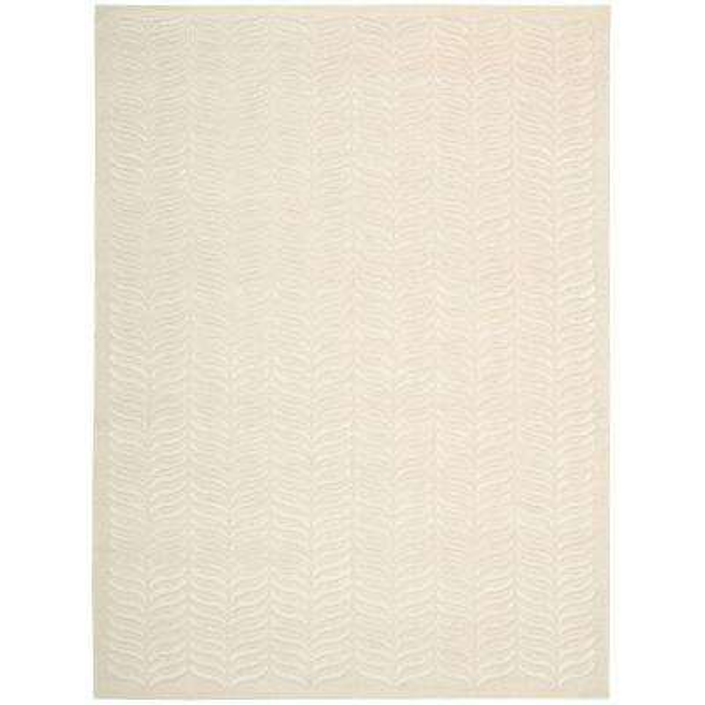 Silken Textures Ivory 8 ft. x 10 ft. Area Rug