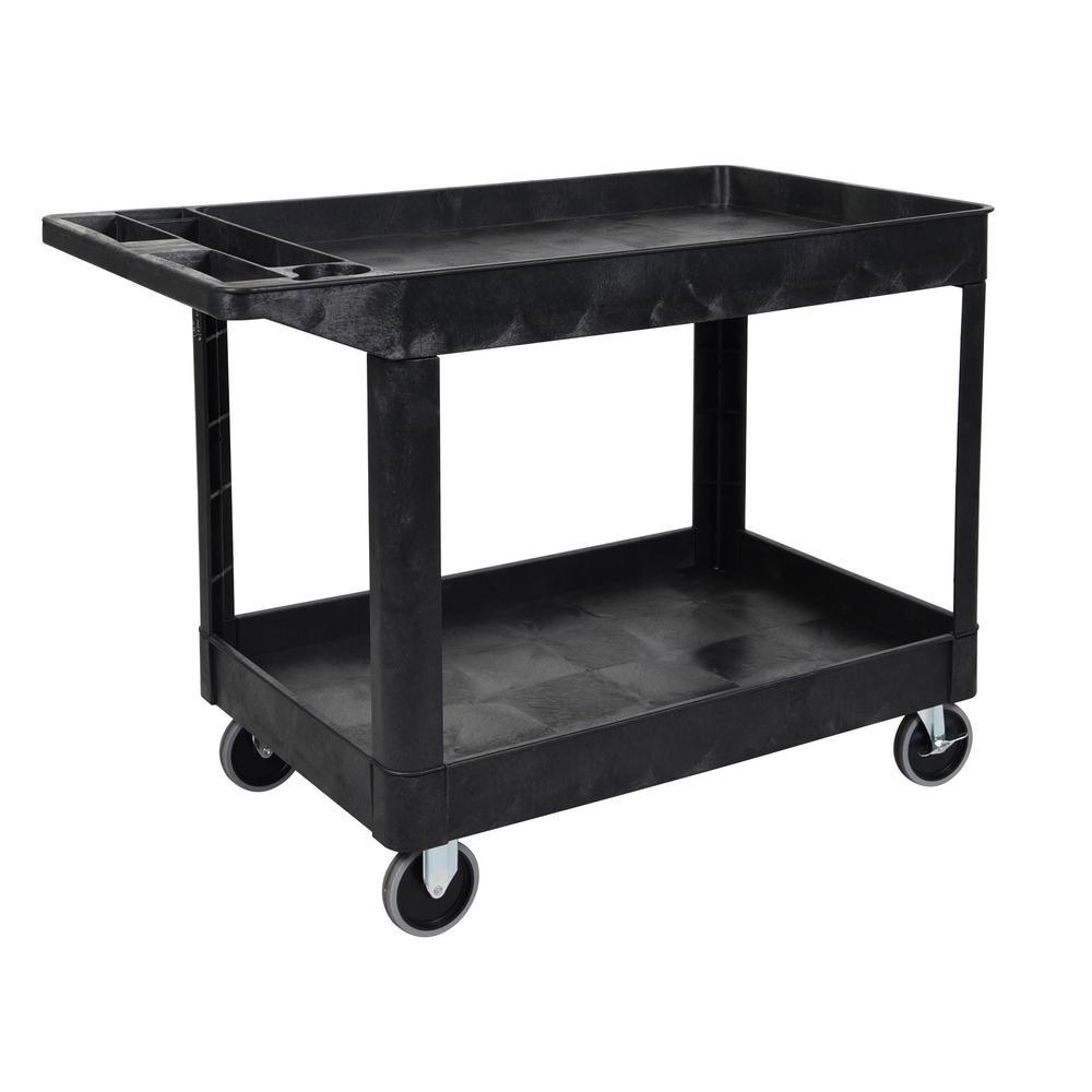 two shelf heavy duty cart in blackxlc11b the home depot