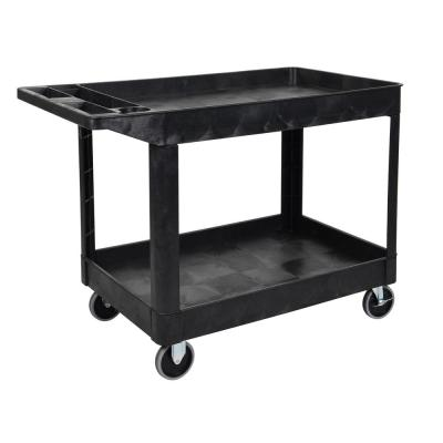 24 in. x 45 in. Two Shelf Heavy Duty Cart in Black