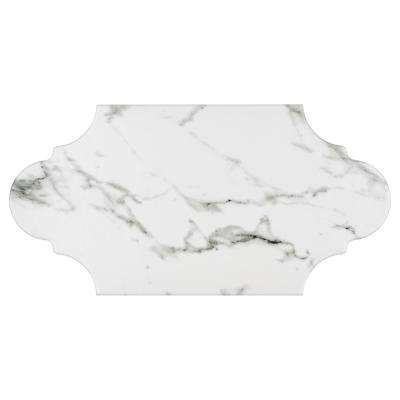 Timeless Calacatta Provencal 6-3/8 in. x 12-7/8 in. Porcelain Floor and Wall Tile (9.43 sq. ft. / case)