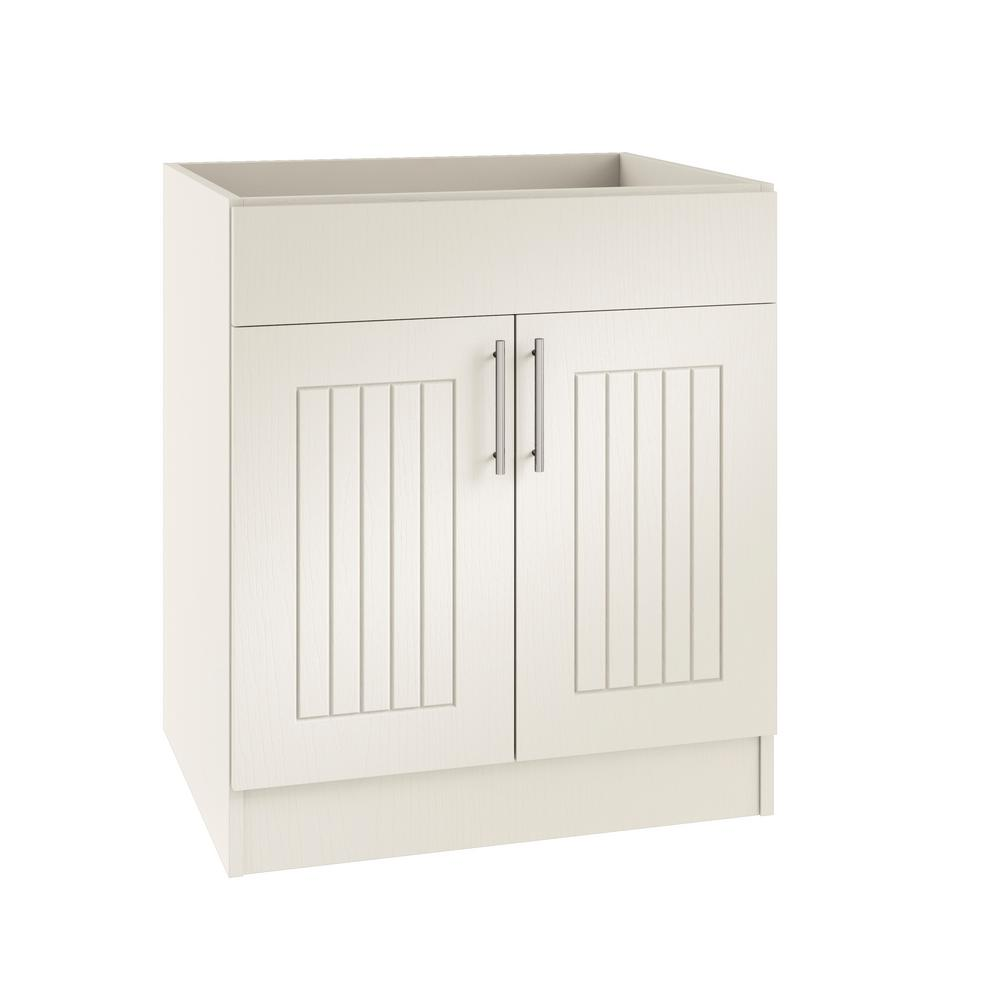 Assembled 24x34.5x24 in. Naples Open Back Sink Outdoor Kitchen Base Cabinet
