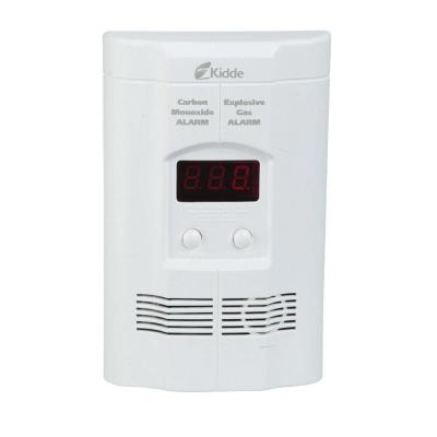 FireX Plug-In Carbon Monoxide, Propane, Natural and Explosive Gas Detector with 9V Battery Backup and Digital Display