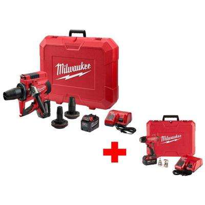 M18 ONE-KEY 18-Volt Lithium-Ion Cordless Force Logic 2 in. to 3 in. ProPEX Expansion Tool Kit with M18 Heat Gun Kit