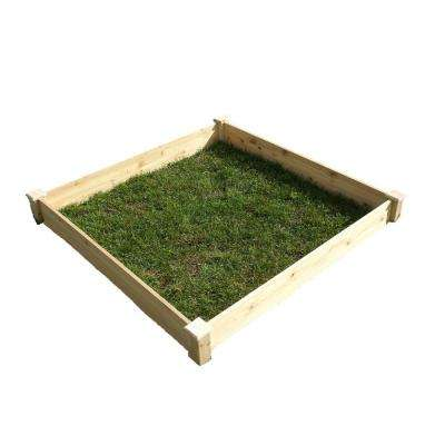 4 ft. x 4 ft. x 5.5 in. Fir Wood Raised Garden Bed