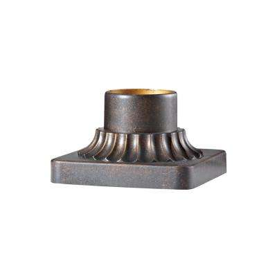 3 in. Patina Copper Outdoor Die-Cast Aluminum Pier Mount Base