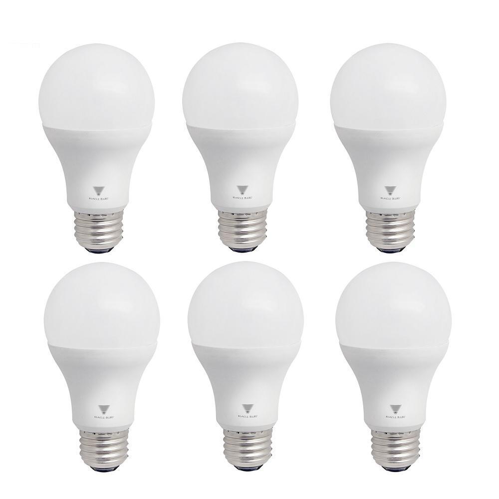 Triglow 75-Watt Equivalent A19 Dimmable 1,055-Lumens LED Light Bulb Daylight (6-Pack)