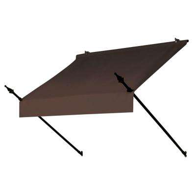 4 ft. Designer Awning Replacement Cover (36.5 in. Projection) in Cocoa