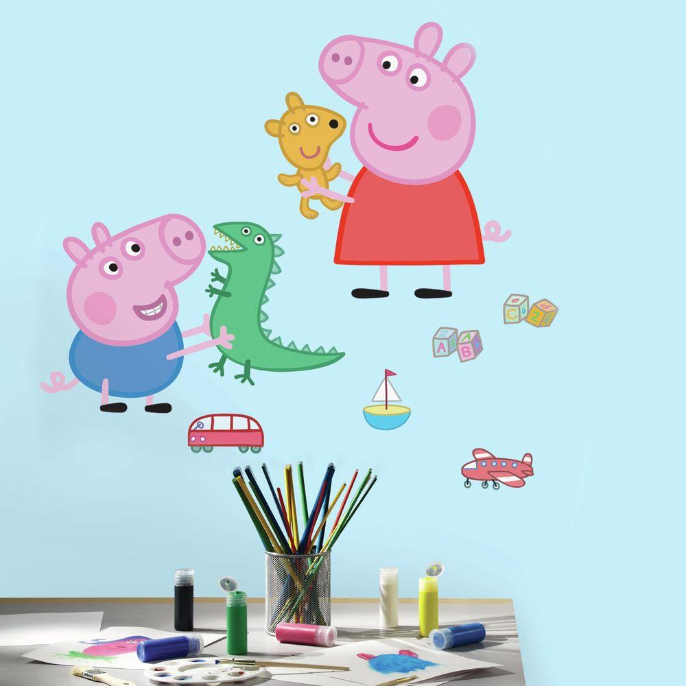 RoomMates 5 in W x 19 in H Peppa the Pig Peppa and George