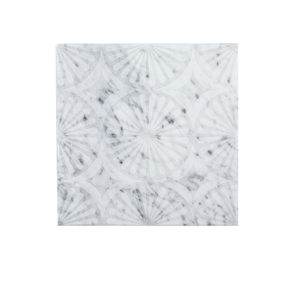 Jeffrey Court Stone Lace 12 in. x 12 in. x 10 mm Marble Mosaic Tile